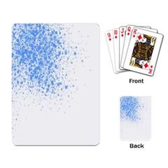 Blue Paint Splats Playing Card