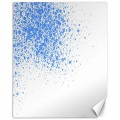 Blue Paint Splats Canvas 11  X 14