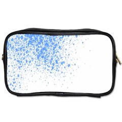 Blue Paint Splats Toiletries Bags 2-Side