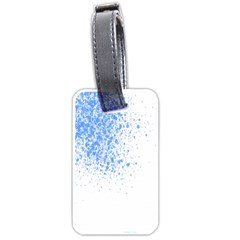 Blue Paint Splats Luggage Tags (one Side)
