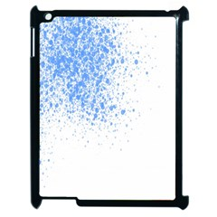 Blue Paint Splats Apple iPad 2 Case (Black)