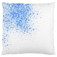 Blue Paint Splats Large Cushion Case (two Sides)