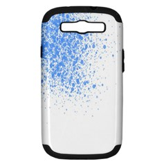 Blue Paint Splats Samsung Galaxy S Iii Hardshell Case (pc+silicone)