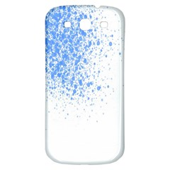 Blue Paint Splats Samsung Galaxy S3 S III Classic Hardshell Back Case