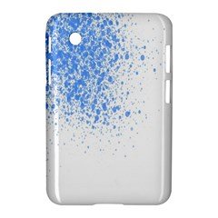 Blue Paint Splats Samsung Galaxy Tab 2 (7 ) P3100 Hardshell Case