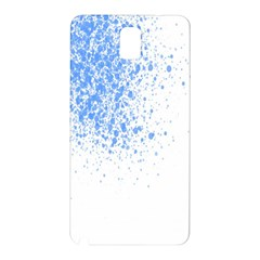 Blue Paint Splats Samsung Galaxy Note 3 N9005 Hardshell Back Case