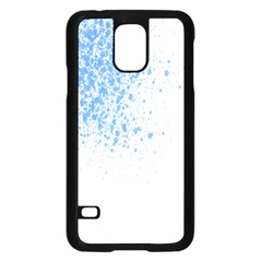 Blue Paint Splats Samsung Galaxy S5 Case (Black)