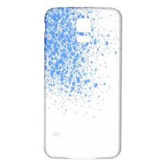 Blue Paint Splats Samsung Galaxy S5 Back Case (White)