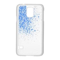 Blue Paint Splats Samsung Galaxy S5 Case (White)