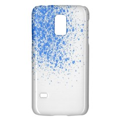 Blue Paint Splats Galaxy S5 Mini