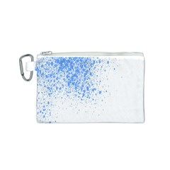 Blue Paint Splats Canvas Cosmetic Bag (S)