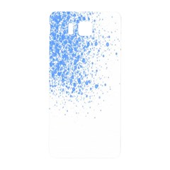 Blue Paint Splats Samsung Galaxy Alpha Hardshell Back Case