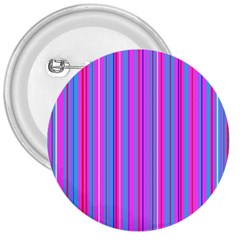 Blue And Pink Stripes 3  Buttons