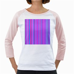 Blue And Pink Stripes Girly Raglans