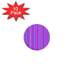 Blue And Pink Stripes 1  Mini Buttons (10 pack)