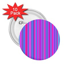 Blue And Pink Stripes 2.25  Buttons (10 pack)