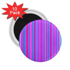 Blue And Pink Stripes 2 25  Magnets (10 Pack)
