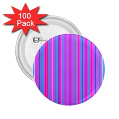 Blue And Pink Stripes 2 25  Buttons (100 Pack)