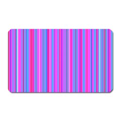 Blue And Pink Stripes Magnet (Rectangular)