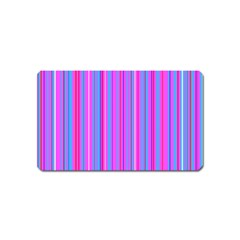 Blue And Pink Stripes Magnet (Name Card)
