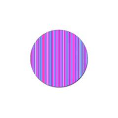 Blue And Pink Stripes Golf Ball Marker