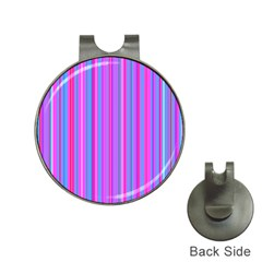 Blue And Pink Stripes Hat Clips with Golf Markers