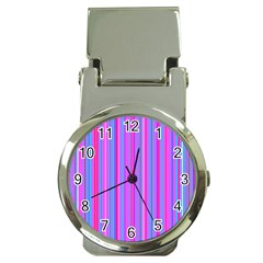 Blue And Pink Stripes Money Clip Watches