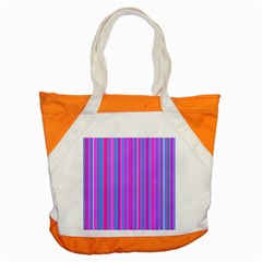 Blue And Pink Stripes Accent Tote Bag