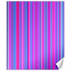 Blue And Pink Stripes Canvas 8  x 10