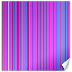 Blue And Pink Stripes Canvas 12  x 12