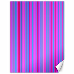 Blue And Pink Stripes Canvas 36  X 48