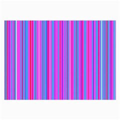 Blue And Pink Stripes Large Glasses Cloth (2-Side)