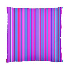 Blue And Pink Stripes Standard Cushion Case (One Side)