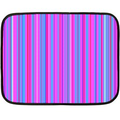 Blue And Pink Stripes Double Sided Fleece Blanket (mini)