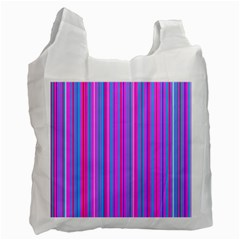 Blue And Pink Stripes Recycle Bag (One Side)