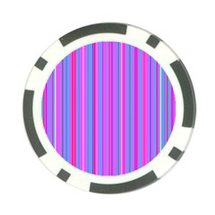 Blue And Pink Stripes Poker Chip Card Guard (10 pack)