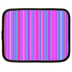 Blue And Pink Stripes Netbook Case (XXL)