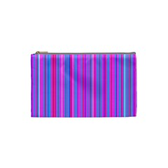 Blue And Pink Stripes Cosmetic Bag (Small)