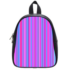 Blue And Pink Stripes School Bags (small)