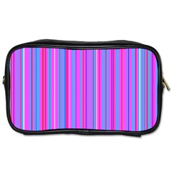 Blue And Pink Stripes Toiletries Bags 2-Side