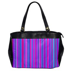 Blue And Pink Stripes Office Handbags