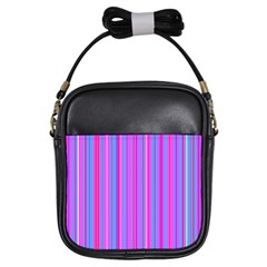 Blue And Pink Stripes Girls Sling Bags