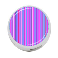 Blue And Pink Stripes 4-Port USB Hub (Two Sides)