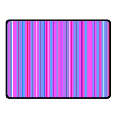 Blue And Pink Stripes Fleece Blanket (Small)