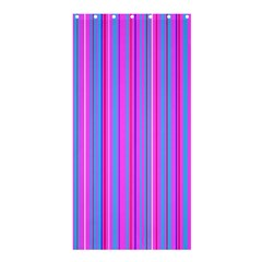 Blue And Pink Stripes Shower Curtain 36  x 72  (Stall)