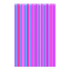 Blue And Pink Stripes Shower Curtain 48  x 72  (Small)
