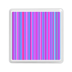 Blue And Pink Stripes Memory Card Reader (square)