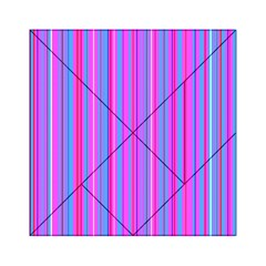 Blue And Pink Stripes Acrylic Tangram Puzzle (6  X 6 )