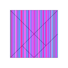 Blue And Pink Stripes Acrylic Tangram Puzzle (4  x 4 )