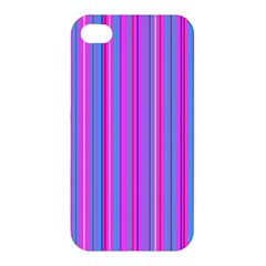 Blue And Pink Stripes Apple Iphone 4/4s Premium Hardshell Case